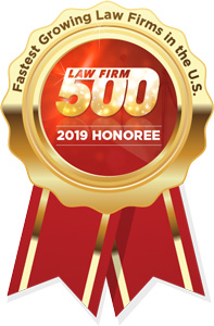2019 Law Firm 500 Honoree badge